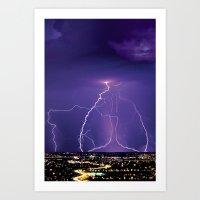 Lightening Art Print