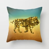 Animal Mosaic - The Lion Throw Pillow