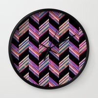 Lilli Chevron {dark} Wall Clock