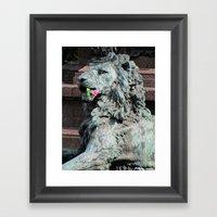 Lion in Vienna Framed Art Print