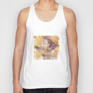 Profile Woman And Flower… Unisex Tank Top