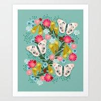 Buckeye Butterly Florals… Art Print