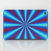 Red And Blue Pleats iPad Case
