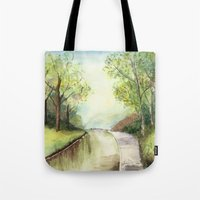 Trees By The Canal Tote Bag