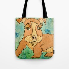 Frank the Puppy Tote Bag
