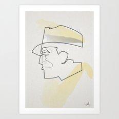One Line Dick Tracy Art Print