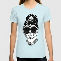 Desayuno at Tiffany's Womens Fitted Tee Light Blue SMALL