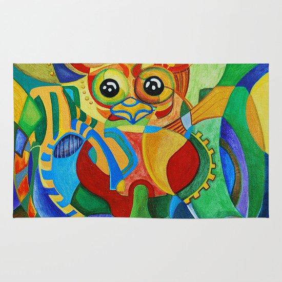 Rainbow Owl Area & Throw Rug