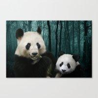 Giant Pandas Canvas Print