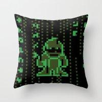 The Pixel Matrix Throw Pillow