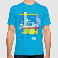 Funky Town Mens Fitted Tee Teal SMALL