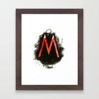 The M Framed Art Print