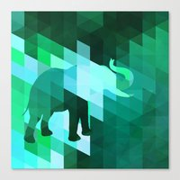 Emerald Elephant Canvas Print