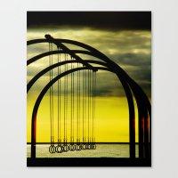 Beach Rings Canvas Print