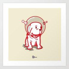 Space Puppy Art Print