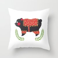 The Ethnic Bear Throw Pillow