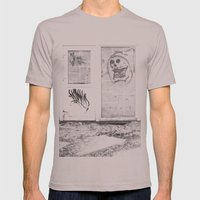Death's newspaper booth Mens Fitted Tee Cinder SMALL