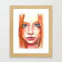 Portrait - RedHair & Freckles Framed Art Print