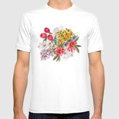 Farmers Market Bouquet 1 Mens Fitted Tee White SMALL