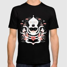 Winter Wonderland SMALL Black Mens Fitted Tee