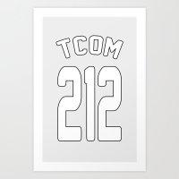 TCOM 212 AREA CODE JERSE… Art Print