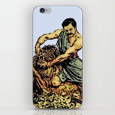 Ron Swanson Slaying A Lion  |  Parks and Recreation iPhone & iPod Skin