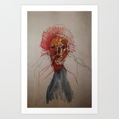 study of a woman Art Print