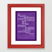 Thundering Problems And Whispering Solutions Framed Art Print