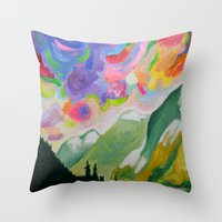 First Snow On The Coquihalla Throw Pillow