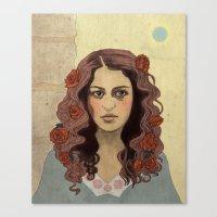 Scarlet Begonias Canvas Print