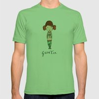 Green Tea Girl Mens Fitted Tee Grass SMALL