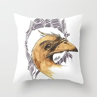 SAINT BIRD OF PARADISE  Throw Pillow