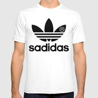 :( Mens Fitted Tee White SMALL
