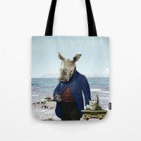 Mr. Rhino's Day At The B… Tote Bag