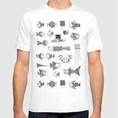 underwater SMALL Mens Fitted Tee White