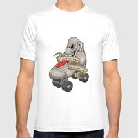 Roller Derby's in my Bones Mens Fitted Tee White SMALL