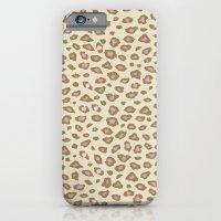 Pink Cream Leopard Print iPhone 6 Slim Case