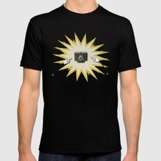 Say Cheese Black SMALL Mens Fitted Tee