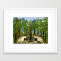 Rittenhouse Square in the Spring Framed Art Print