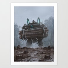 1920 - the destroyer of nature Art Print