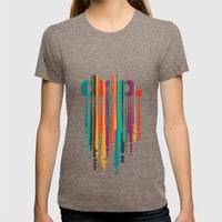 Drip V2 Womens Fitted Tee Tri-Coffee SMALL
