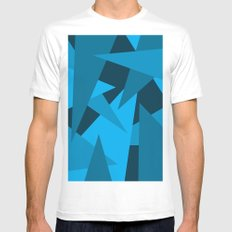 Triangles SMALL White Mens Fitted Tee