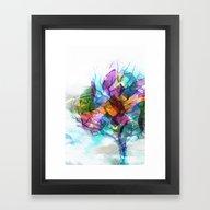 Framed Art Print featuring Winter Love 2 by Klara Acel