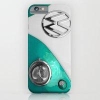 VW Split Screen In Teal iPhone 6 Slim Case