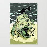 Something Fishy this way Comes Canvas Print