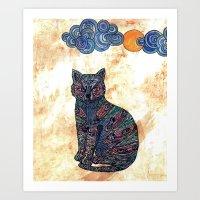 My Blue Cat.   Art Print
