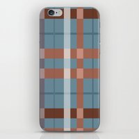 Urban Earth Tone Plaid  iPhone & iPod Skin
