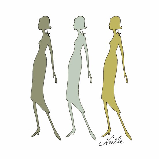 Triplets Neutrals Art Print