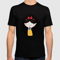 Snow white Mens Fitted Tee Black SMALL