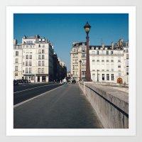 Perfect Day in Paris - Ile Saint Louis Art Print
